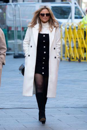 Emily Atack - Seen arriving at Global Radio in London