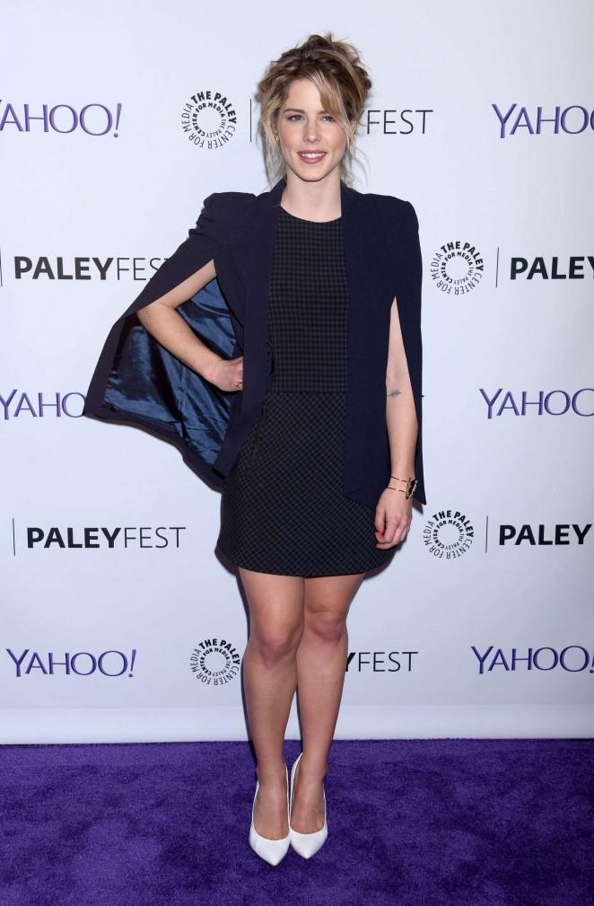 "Emily Bett Rickards - 2015 PaleyFest ""Arrow"" & ""The Flash"" Event in Hollywood"