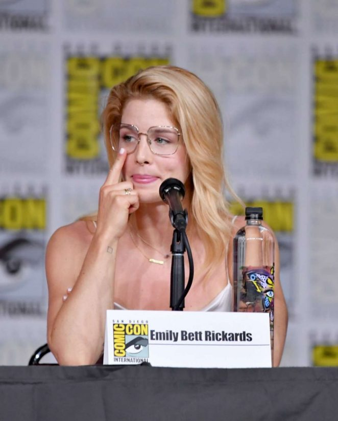 Emily Bett Rickards - 'Arrow' Panel at 2018 Comic-Con in San Diego