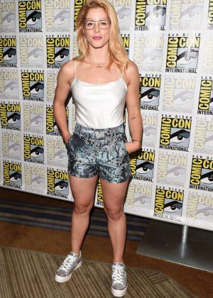 Emily Bett Rickards Arrow Press Call At 2018 Comic Con In San