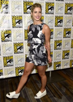 Emily Bett Rickards - 'Arrow' Press Line at Comic Con 2016 in San Diego
