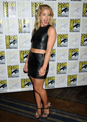 Emily Bett Rickards - Arrow Press Line at Comic Con in San Diego