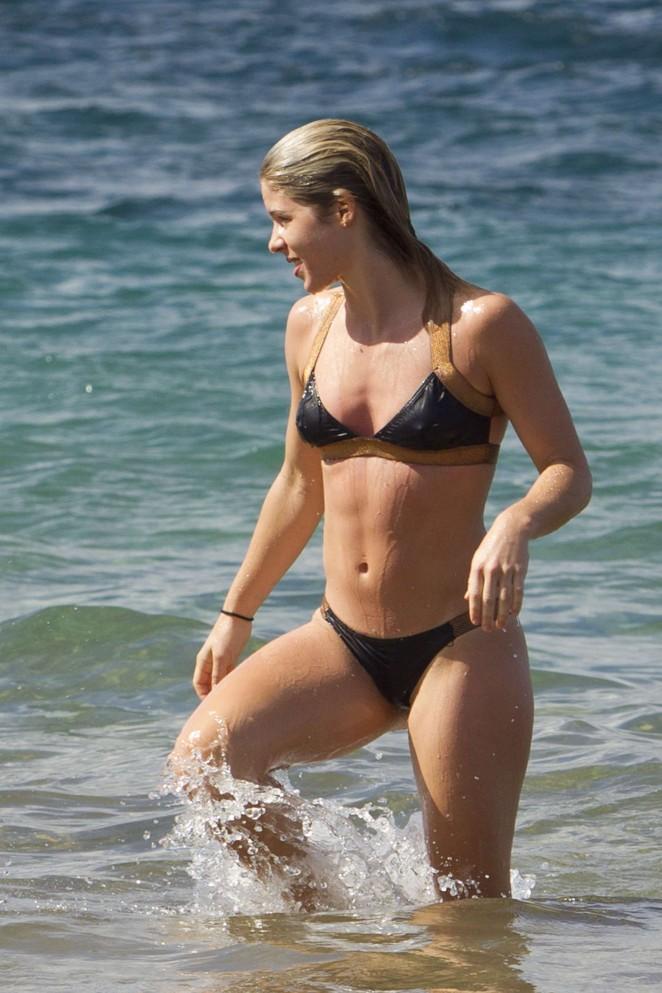 Emily Bett Rickards in Bikini in Maui