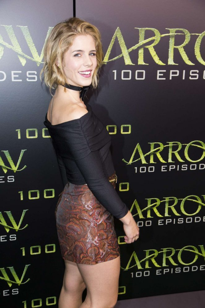 Emily Bett Rickards - Celebration Of 100th Episode Of CW's 'Arrow' in Vancouver