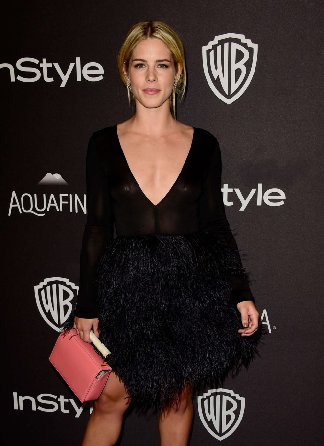 Emily Bett Rickards - InStyle and Warner Bros 2016 Golden Globe Awards Post-Party in Beverly Hills