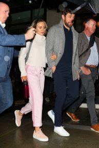 Emily Blunt and John Krasinski - Leaving the Crosby Hotel in New York