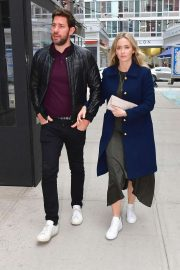 Emily Blunt and John Krasinski - Out for a romantic dinner in New York