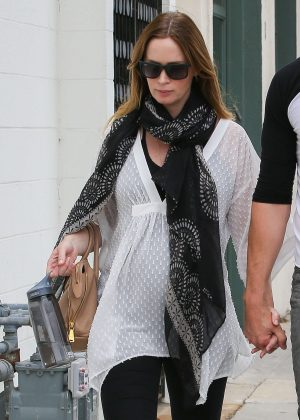 Emily Blunt and John Krasinski out in Beverly Hills