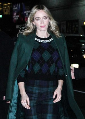 Emily Blunt – Arrives at The Late Show With Stephen Colbert in NYC