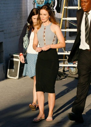 Emily Blunt - Arriving at 'Jimmy Kimmel Live' in Hollywood