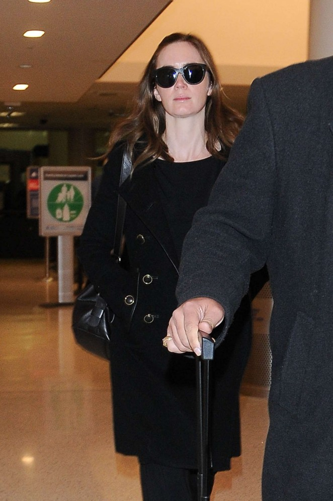 Emily Blunt at Los Angeles International Airport