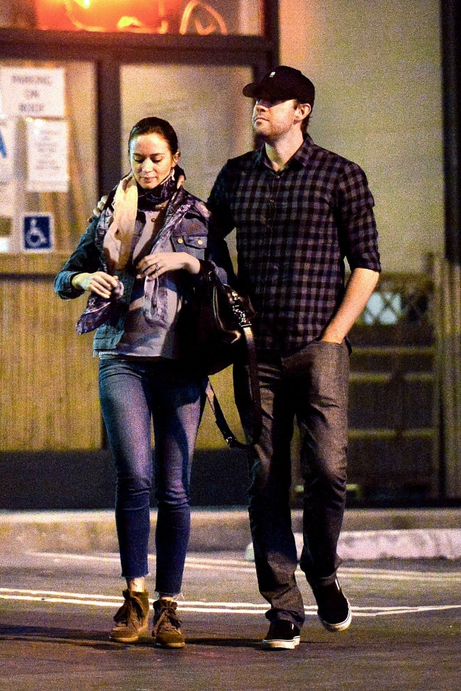 Emily Blunt at the Sushi House in Studio City