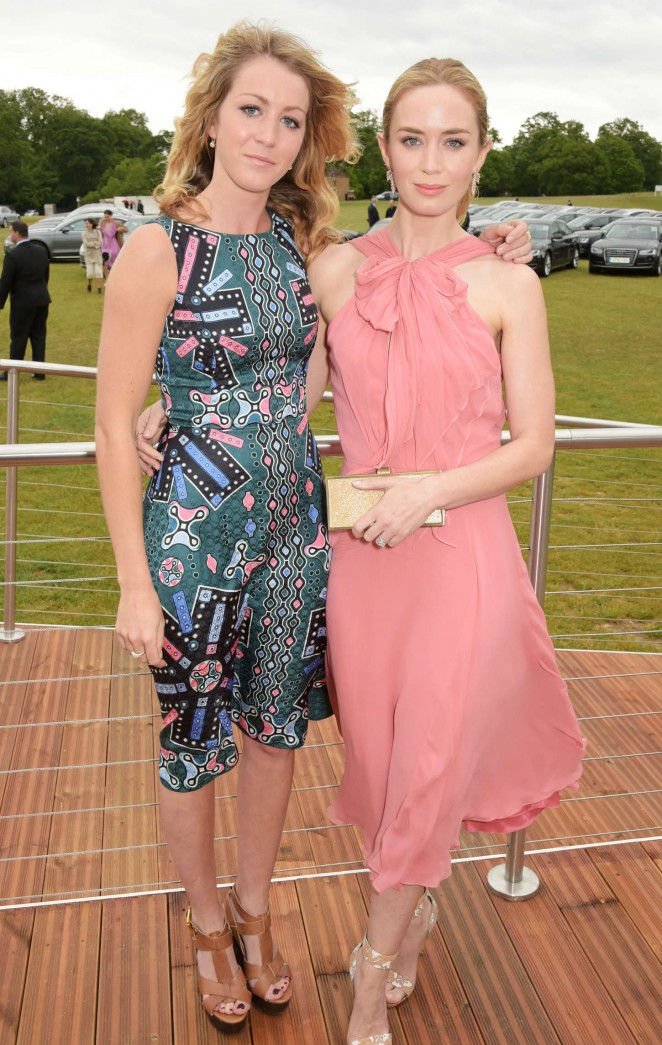 Emily Blunt: Audi Polo Challenge Day -01
