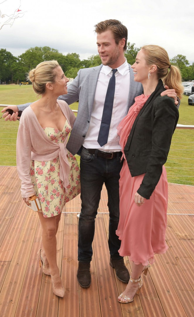 Emily Blunt: Audi Polo Challenge Day -02