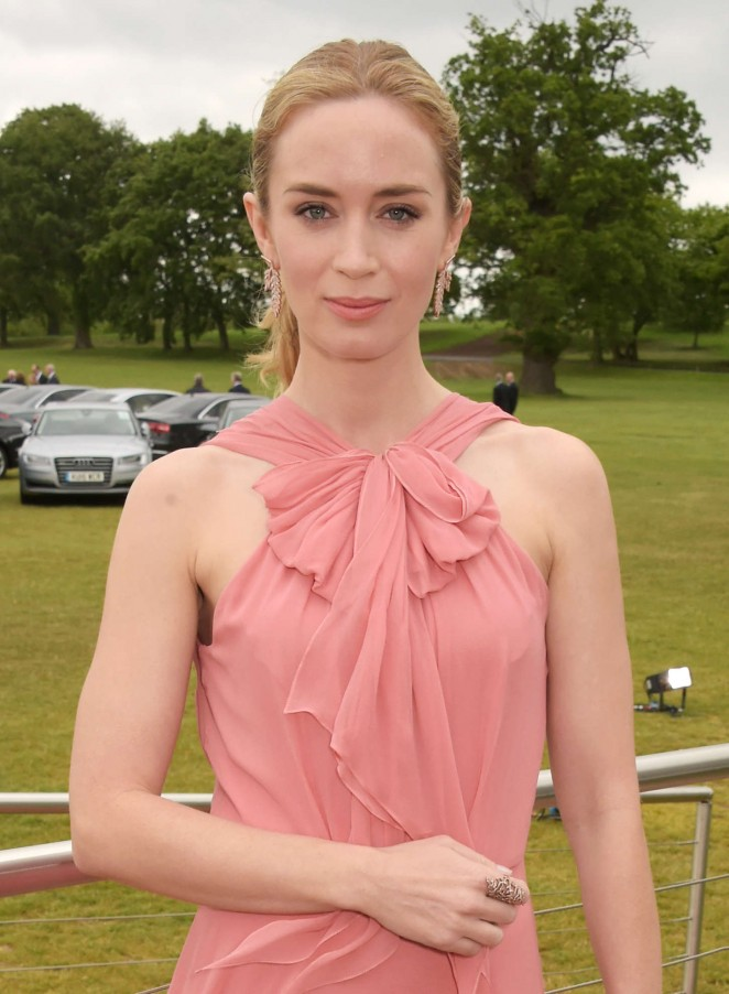 Emily Blunt: Audi Polo Challenge Day -03