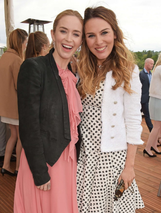 Emily Blunt: Audi Polo Challenge Day -04