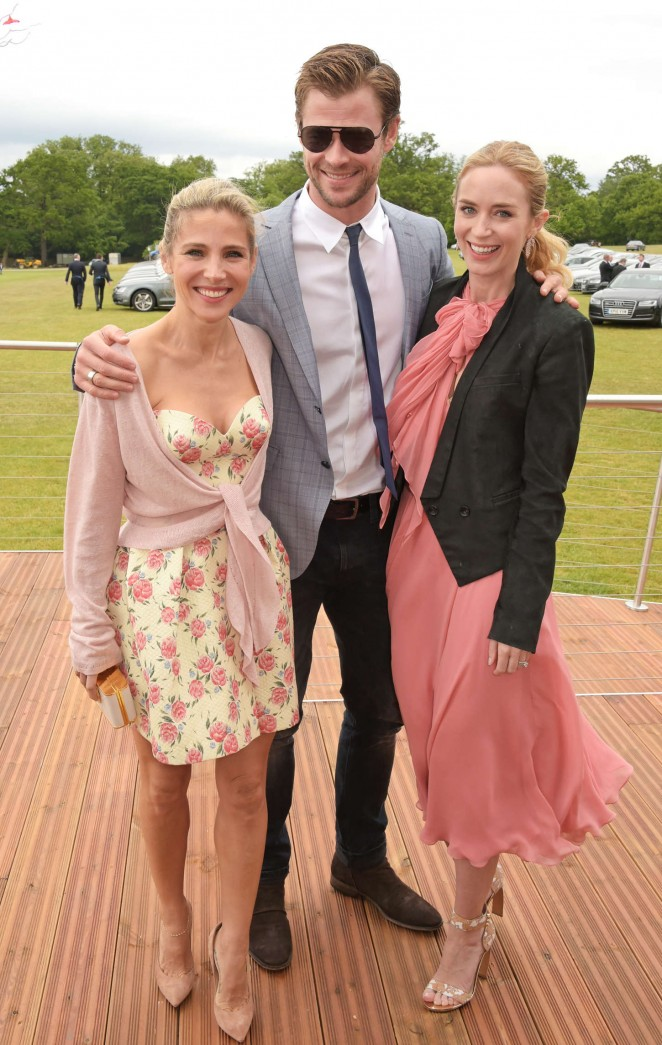 Emily Blunt: Audi Polo Challenge Day -06