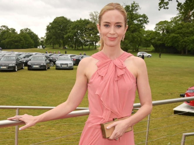 Emily Blunt: Audi Polo Challenge Day -07