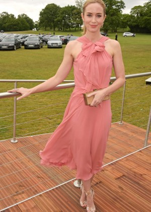 Emily Blunt - Audi Polo Challenge Day in London