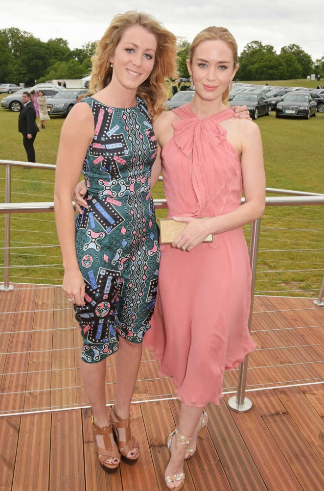 Emily Blunt: Audi Polo Challenge Day -10