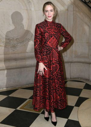Emily Blunt - Christian Dior SS 2018 Show in Paris