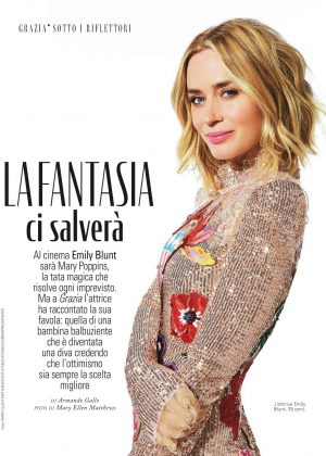 Emily Blunt - Grazia Italy Magazine (December 2018)