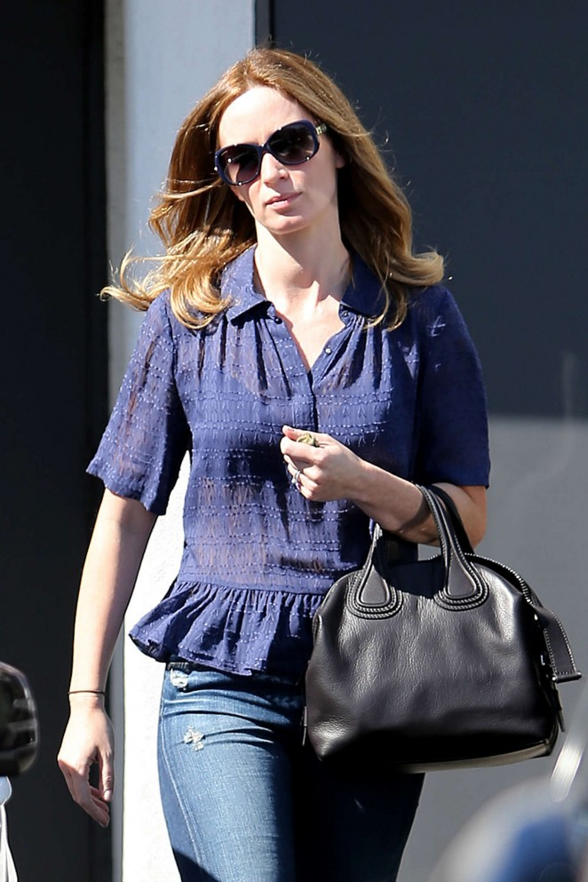Emily Blunt in Jeans out in Beverly Hills