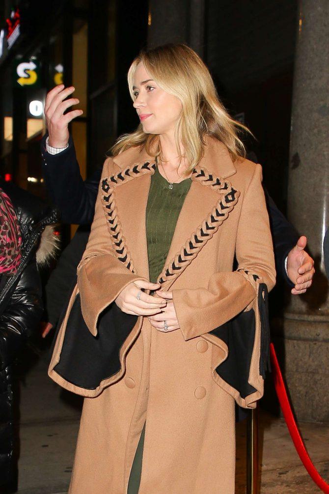 Emily Blunt - Leaving Feinstein's/54 Below in NYC