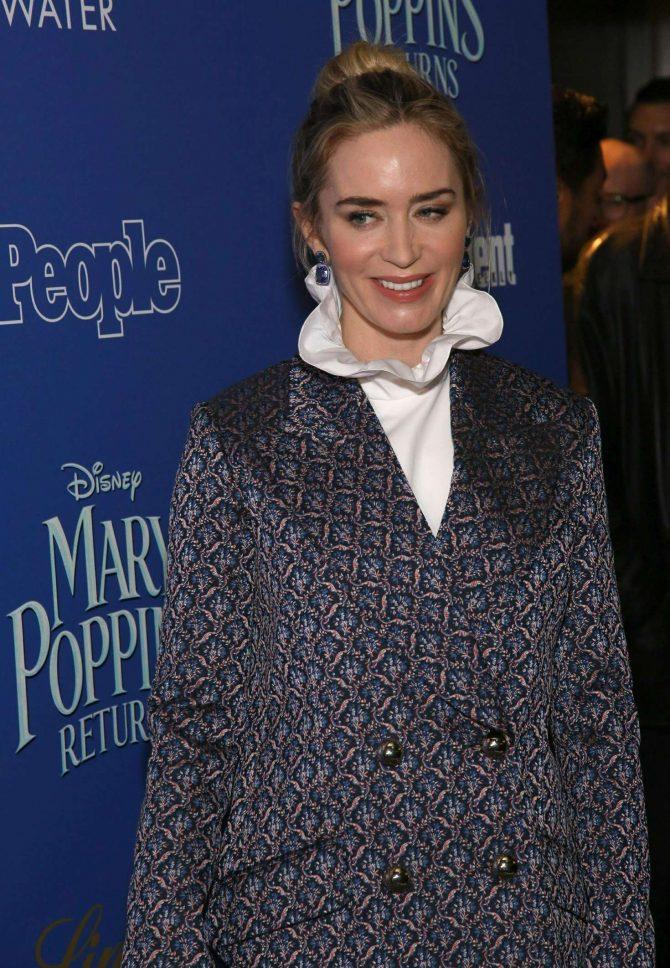 Emily Blunt – 'Mary Poppins Returns' Screening in New York
