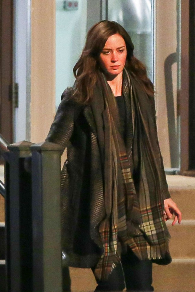 Emily Blunt on 'The Girl on the Train' Set in New York City
