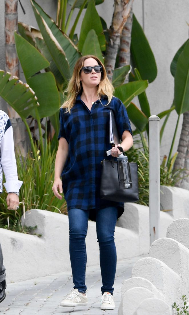 Emily Blunt out in Beverly Hills