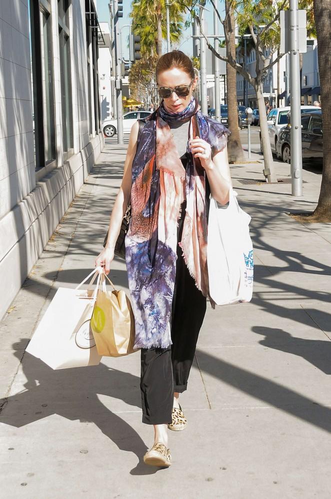 Emily Blunt Shopping in LA