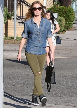 Emily Blunt in Green Jeans Shopping in West Hollywood