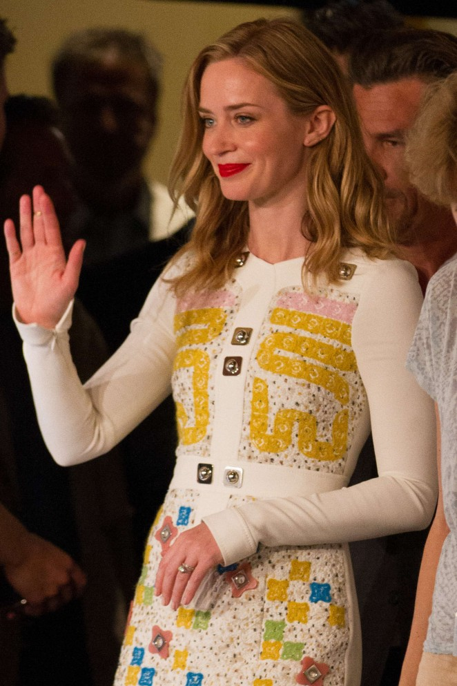"Emily Blunt - ""Sicario"" Press Conference at 2015 Cannes Film Festival"