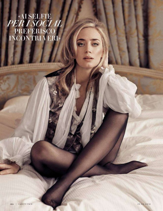 Emily Blunt - Vanity Fair Italy Magazine (April 2018)