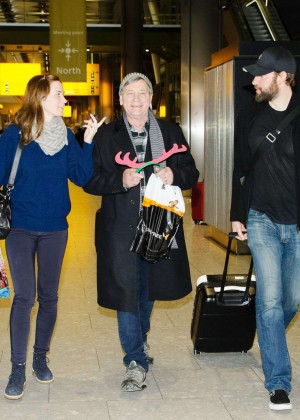 Emily Blunt at Heathrow Airport -03