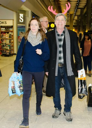 Emily Blunt at Heathrow Airport -06