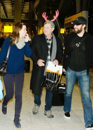 Emily Blunt at Heathrow Airport -08