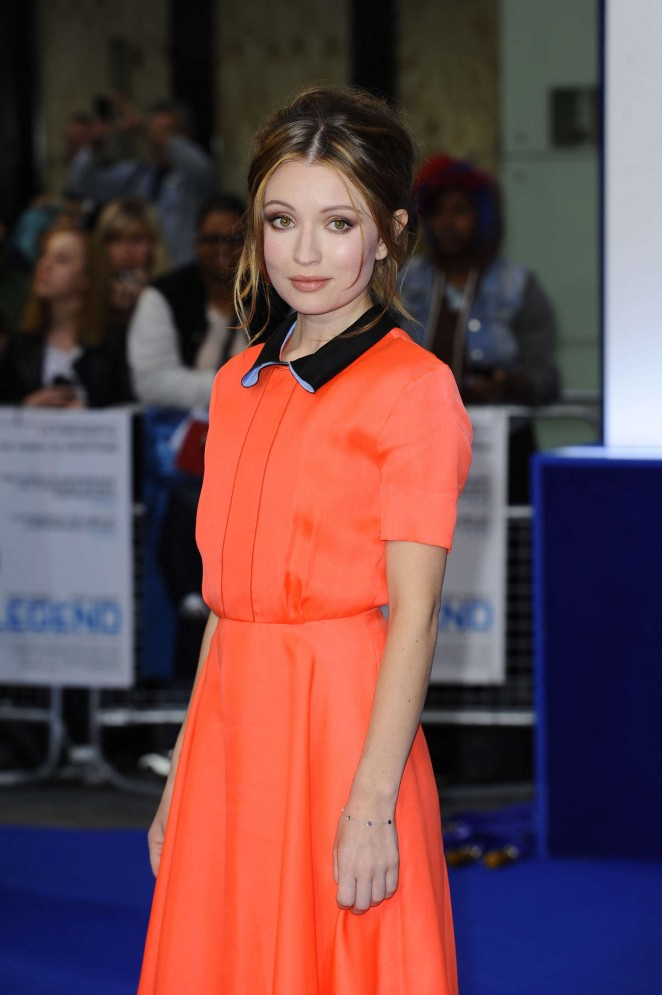 Emily Browning - 'Legend' Premiere in London