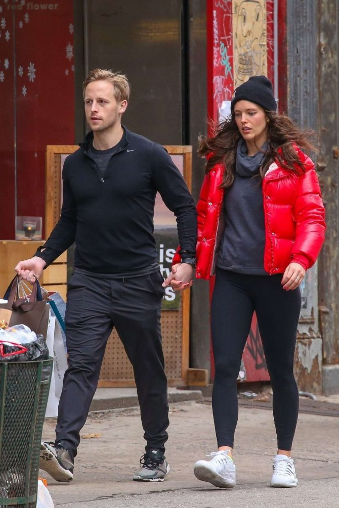 Emily Didonato and husband Kyle Peterson – Shopping in Soho