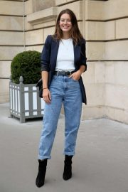 Emily DiDonato - Heads to dinner outside Hotel Crillion at Paris Fashion Week