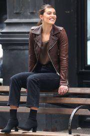 Emily DiDonato - On set of a Maybelline photoshoot in New York