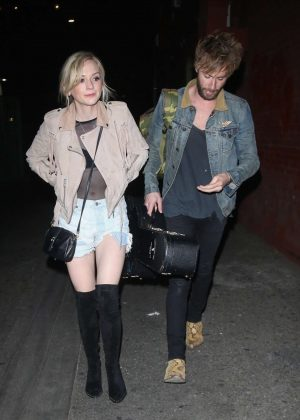 Emily Kinney and Paul McDonald - Leaves Hotel Cafe in Los Angeles
