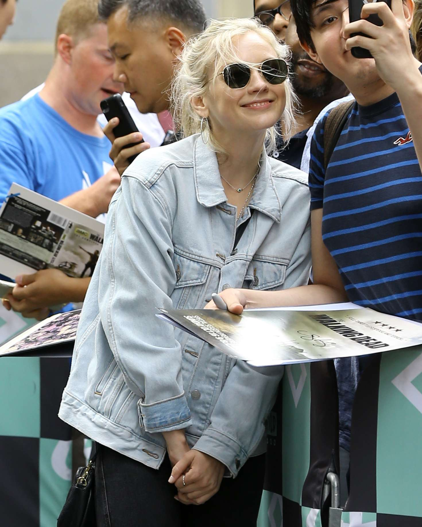 Emily Kinney - Arriving at AOL Build Series in New York City