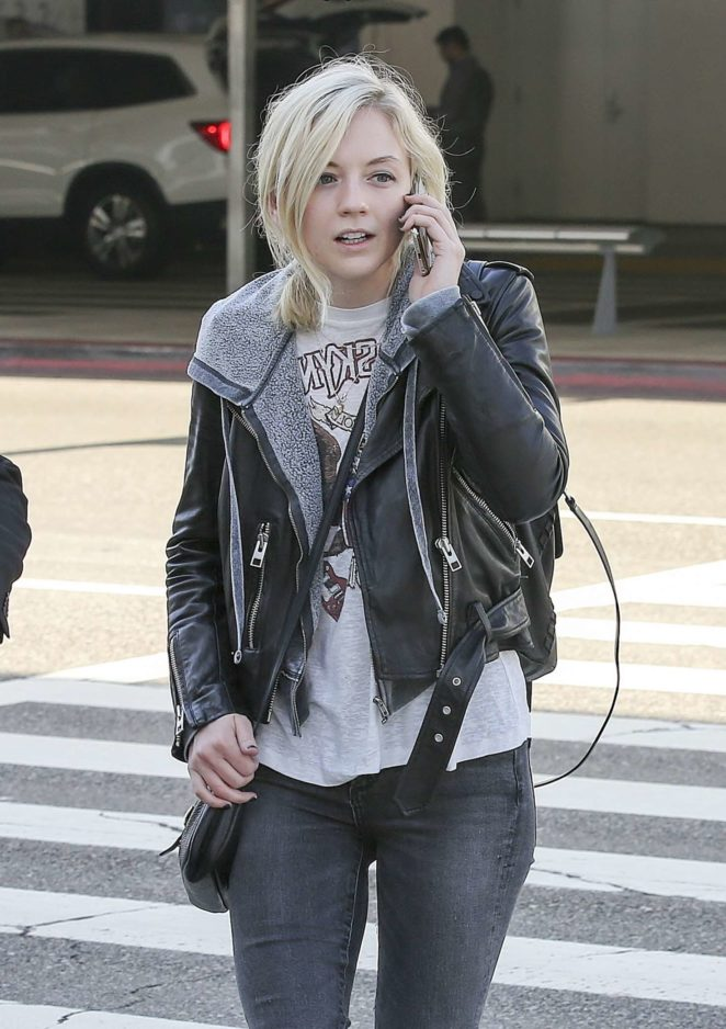 Emily Kinney at LAX Airport in LA