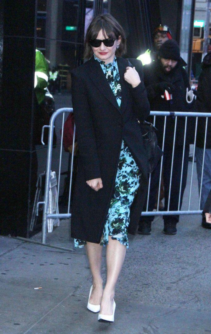 Emily Mortimer at Good Morning America in New York