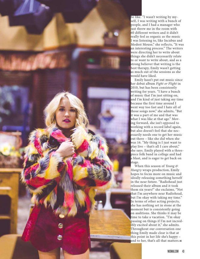 Emily Osment: NKD Magazine 2016 -11