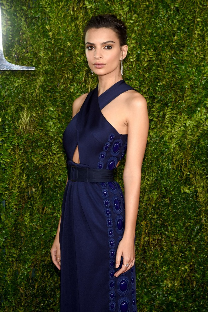 Emily Ratajkowski - 2015 Tony Awards in New York