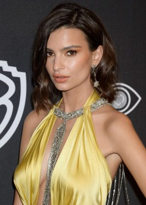 Emily Ratajkowski - 2017 InStyle and Warner Bros Golden Globes After Party in LA