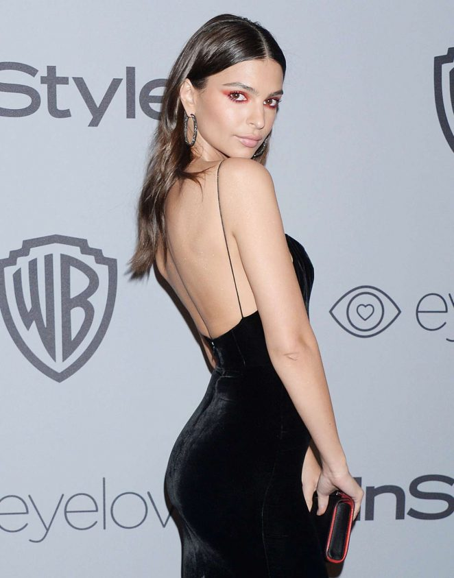 Emily Ratajkowski - 2018 InStyle and Warner Bros Golden Globes After Party in LA